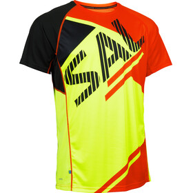 Salming Bold Print Running T-shirt Men yellow/red